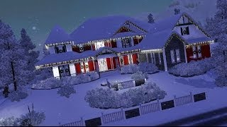 The Sims 3 Home Building - Poinsettia Place with Story
