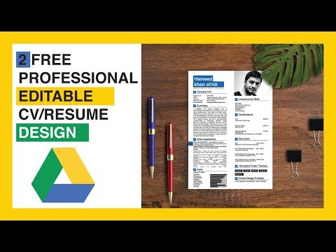 Creative CV/Resume design in Adobe Illustrator CC | Free curriculum template thumbnail
