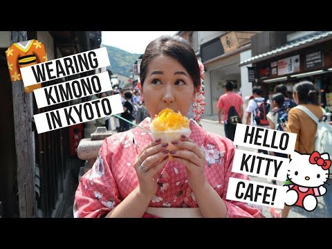 JAPAN VLOG 2 // RENTING KIMONOS in Kyoto & Hello Kitty Cafe!