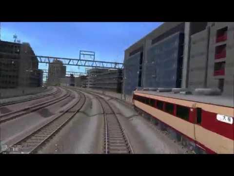鉄道模型シミュレーター 車庫→レイアウトを往復させてみた