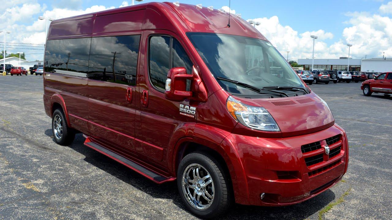 2015 Dodge Promaster >> 2015 Ram ProMaster 9 Passenger High-Top Conversion Van By Sherry Vans Walkthrough | 27383T - YouTube