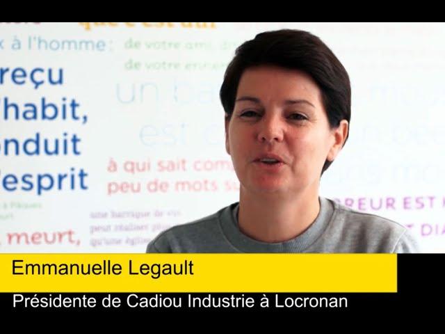 Interview de Emmanuelle Legault, DG de Cadiou Industrie à Locronan