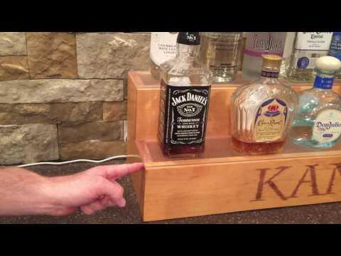 Liquor shelf dimensions