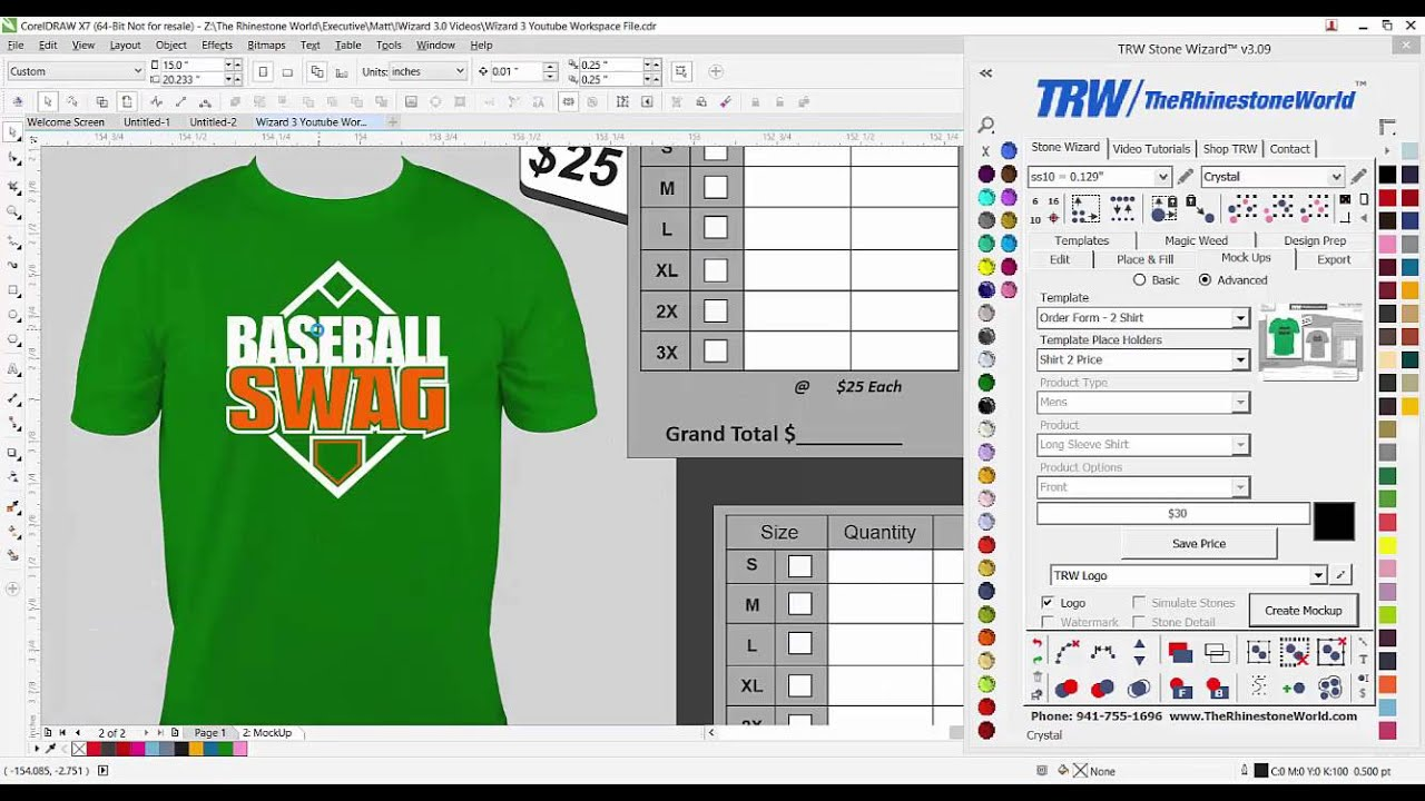 shirt order forms