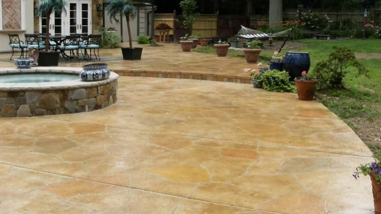 Stamped Concrete Patterns Houston, TX (281) 407-0779 - YouTube