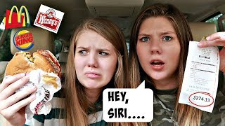 Letting Siri Pick What We Eat for 24 Hours || Taylor & Vanessa
