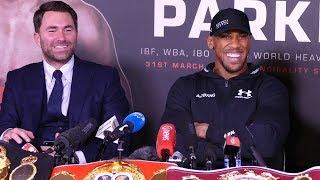 Anthony Joshua POST FIGHT PRESS CONFERENCE | vs Joseph Parker