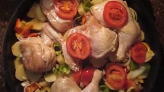 الدجاج مع الخضار بالفرن Oven Baked Chicken And Vegetables