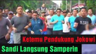 Sandi Lari Pagi di Bojonegoro Jawa Timur. Jum'at 15/2/2019