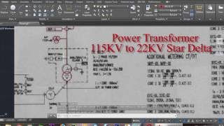Auto CAD Training, How to insert image, Single phase diagram substation