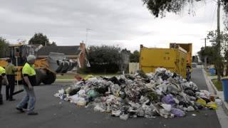 Rubbish Truck Dumps Load After Fire