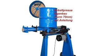 Repeat youtube video Brikettpresse Eigenbau, Brikettpresse, Brikettierpresse, Sägespalter,