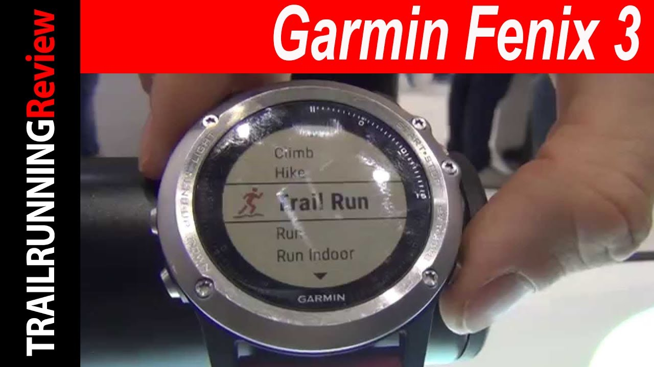 Garmin Fenix 3 Preview Youtube