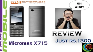 Micromax budget Mobile X715 Unboxing amp REVIEW