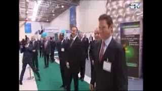 President Ilham Aliyev views BakuTel 2013 Exhibition