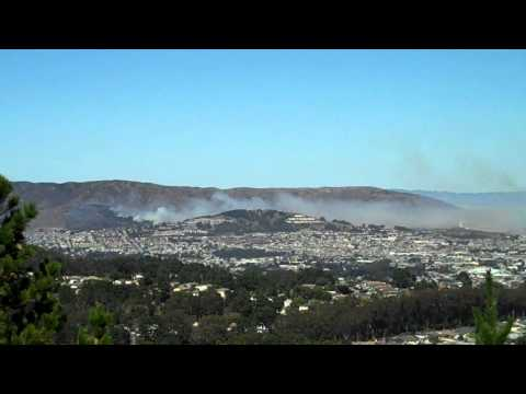 San Bruno Mountain State Park, fire September 7, 2013 (ca 2pm)