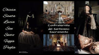 ►santa luciala chiesa ha sobria facciata settecentesca e interno squisitamente barocco con pianta che simula una croce latina in successione molto sugges...