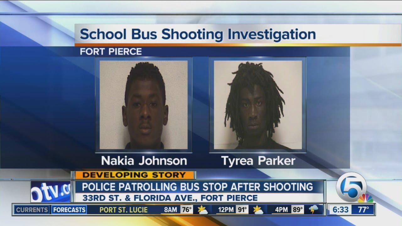 Teen shot at bus stop