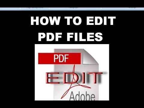 Program to edit pdf files