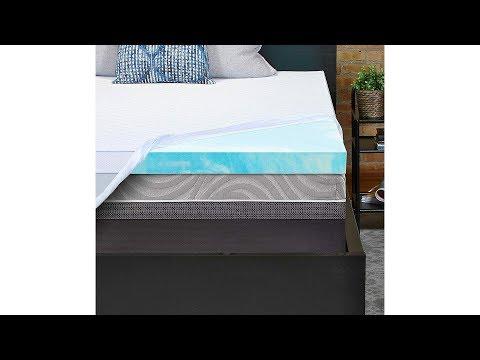 Sealy Essentials 3 Inch Gel Memory Foam Mattress Topper, Full