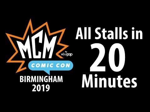 MCM Birmingham Comic Con 2019 All Stalls In 20 Minutes