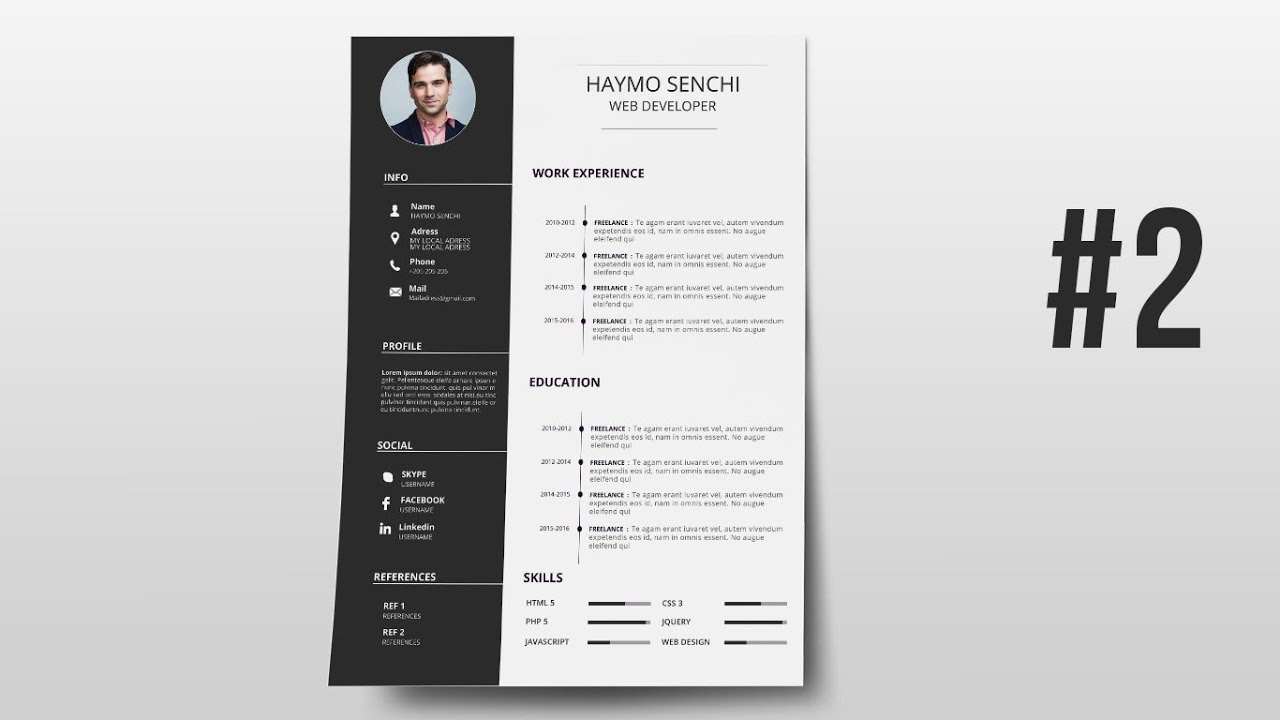 Resume Template Design With Photoshop 2
