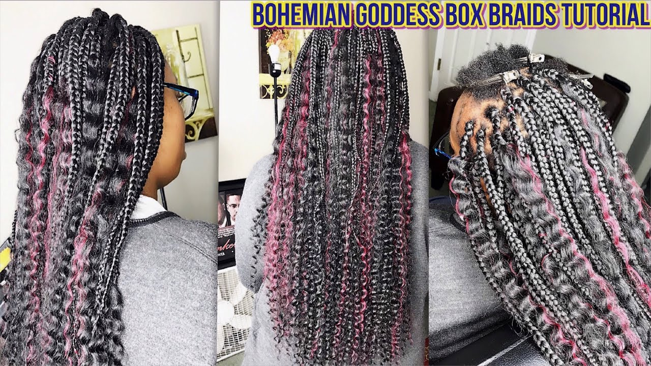 Short Goddess Knotless Box Braids - Unlike the traditional braiding technique that adds ...