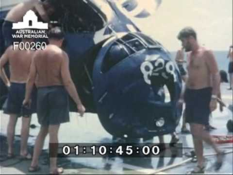 Navy footage including aftermath of the collision of HMAS Melbourne and USS Evans