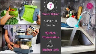 7 NEW kitchen Organization Tips & Ideas / My Favorite Tools To Keep Kitchen NEAT-O-CLEAN