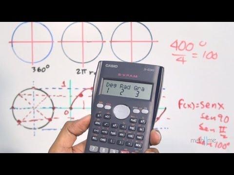 Funciones seno coseno y tangente en la calculadora