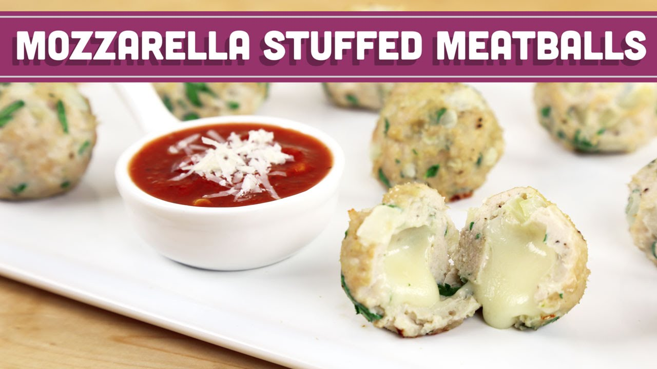 Easy Mozzarella Stuffed Meatballs - Low Fat - Mind Over Munch ...