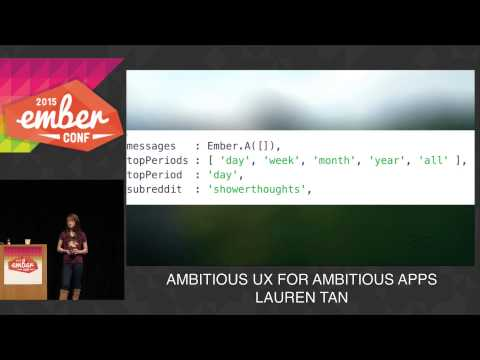 Watch Ambitious UX for Ambitious Apps on YouTube