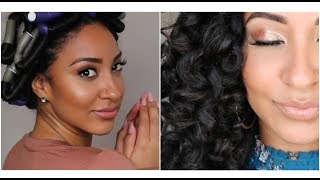 Heatless Soft Curls | Quick Flexi Rod Set | on Natural Stretched Hair