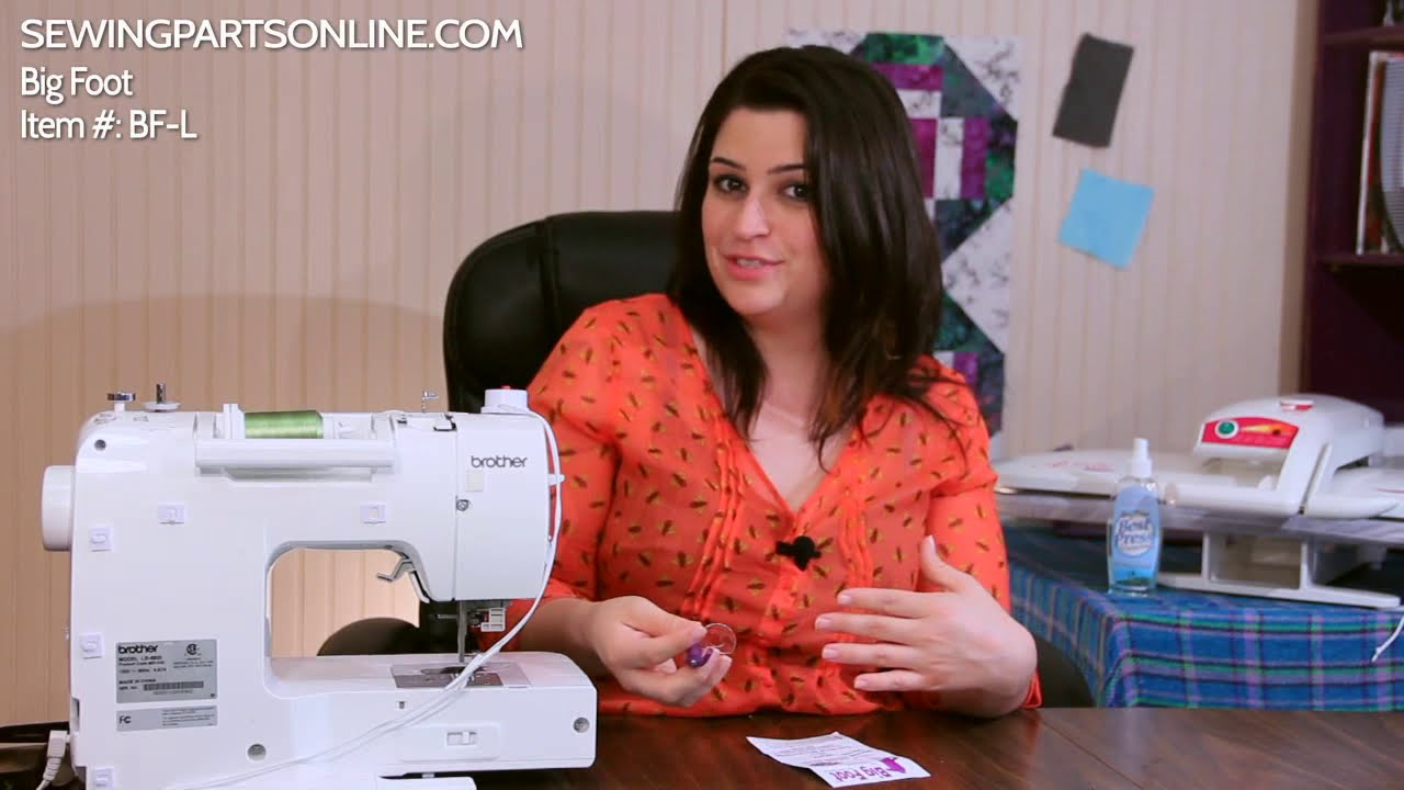 how to attach a darning foot to a brother sewing machine