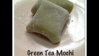 Green Tea Mochi With Green Tea Ice Cream Recipe