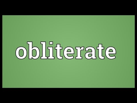 Obliterate Meaning