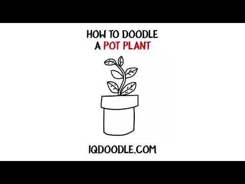 How to Draw a Pot Plant (drawing tips)