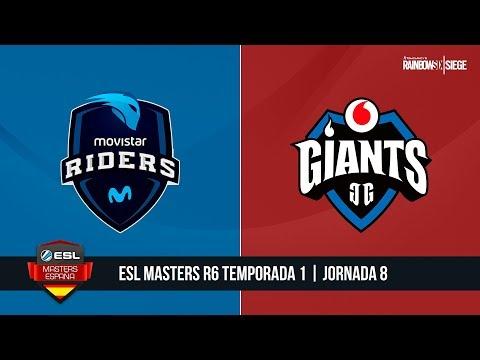 R6 - Movistar Riders vs. Vodafone Giants - ESL Masters R6 T1 - Jornada #8