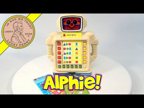 1983 Alphie II Robot Electronic Matching Game by Playskool Toys
