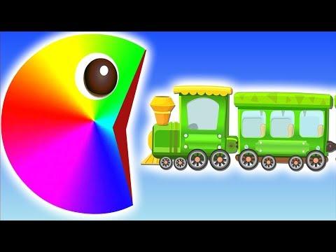 Pacman팩맨|소방차 기차 굴착기 경찰차 모두 먹어버려요|색깔놀이|베이비버스 팩맨동화