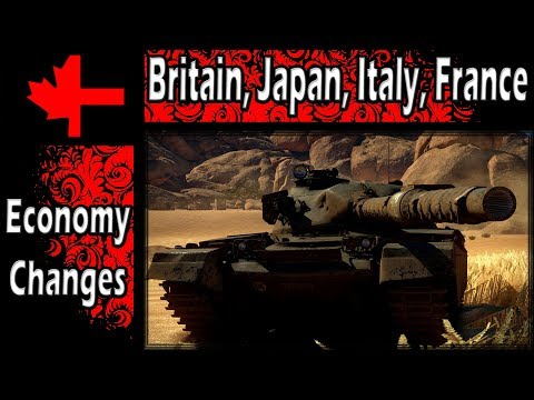 War Thunder - Planned Economy Changes April 2018 - Britain, Japan, Italy, France