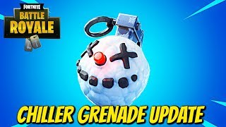 "Fortnite:Battle Royale ""Chiller Grenade"" Update - Fortnite Chiller Grenade gameplay"