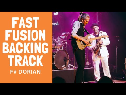 Fast Fusion Backing Track F# Dorian