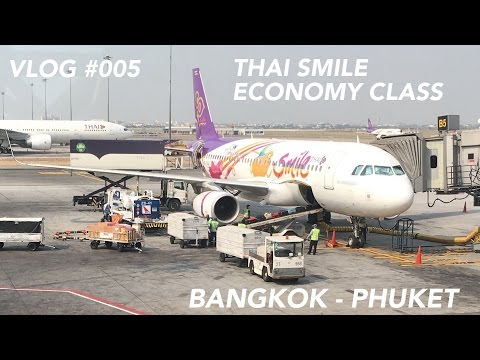 Thai Smile / Thai Airways Flight Bangkok to Phuket – My Way to the Beach | Trip Report
