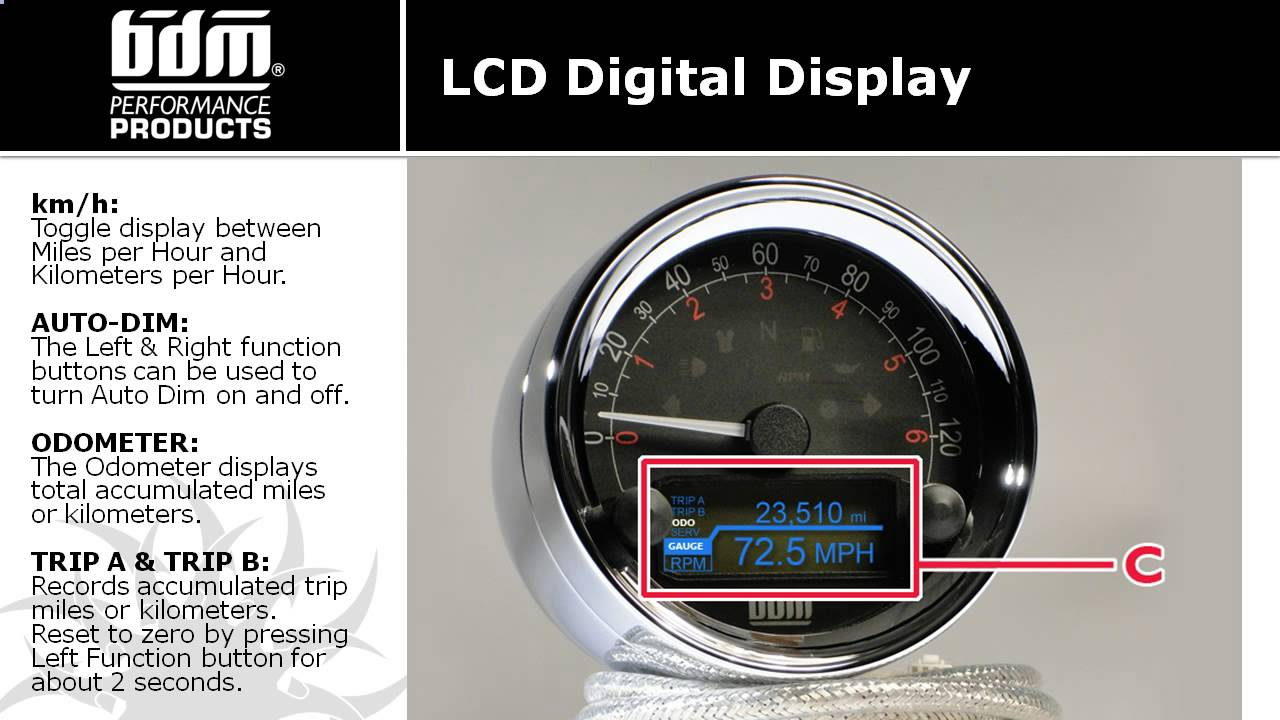 The Medallion Speedometer From Bdm Performance Products