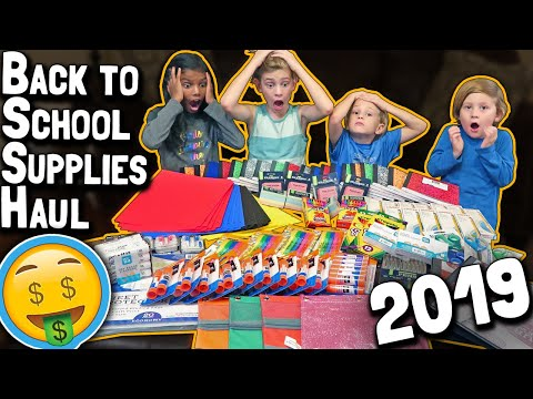 Back to School Supplies Shopping Haul 2019 // Elementary Grade School Preparation