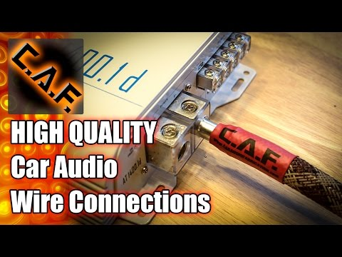 HIGH QUALITY Power Wire Connections - CarAudioFabrication