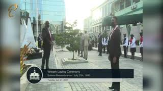 Wreath Laying Ceremony - Solemn Remembrance Of July 27, 1990