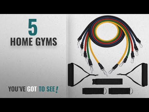 Top 10 Home Gyms [2018]: [Stretch Bands] Exercise Resistance Bands Set, TopElek Fitness Resistance