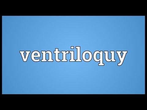 Header of ventriloquy